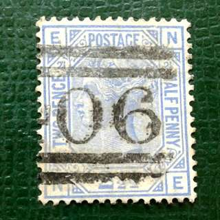 1880 British 2.1/2 used stamps
