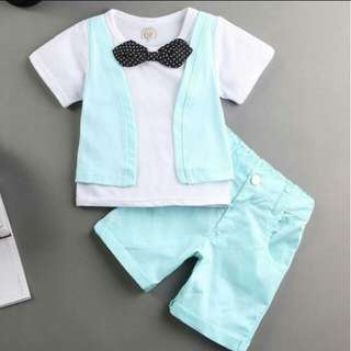 Mint Green Bow Tie Set