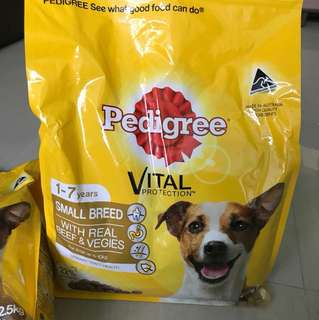 PEDIGREE DRY FOOD WITH REAL BEEF & VEGGIES 2.5KG