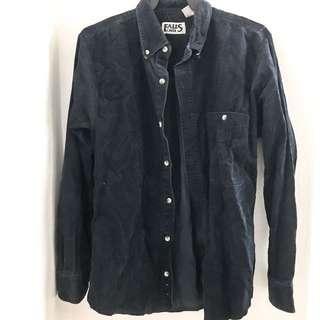 Vintage velvet boyfriend shirt