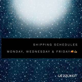 Shipping schedules