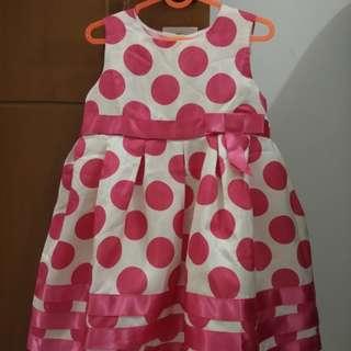 Dress Pink Fuschia Polka