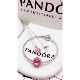 Authentic Pandora Bangle & necklace set