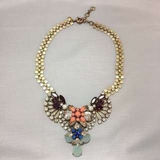 J Crew Jewelled Crystal Necklace