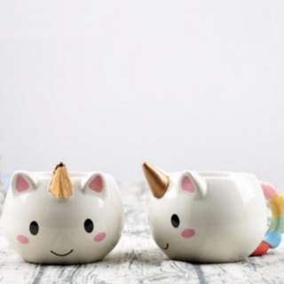 (INSTOCKS) Rainbow Unicorn 3D Mug Cup! #huat50sale