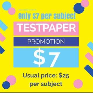 Popular! Ending soon (promotion for test papers/ testpapers/ exam papers/ exampapers/ past year papers