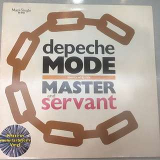"Depeche Mode ‎– Master And Servant (Slavery Whip Mix), 12"" Grey Single Vinyl, Mute ‎– INT 126.824, 1988, Germany"