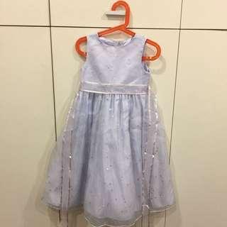女童淺紫亮片小禮服