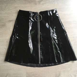 Pretty Little Thing Vynil Skirt