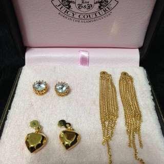 Juicy couture 金色 1set3款 耳環  購自美國專門店 情人節 禮物