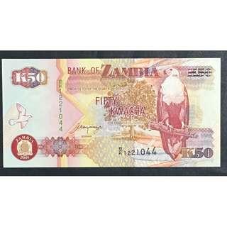 Zambia 2001 50 Kwacha UNC
