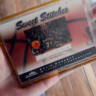Kevin garnet with game worn jersey nba cards(limited edition)