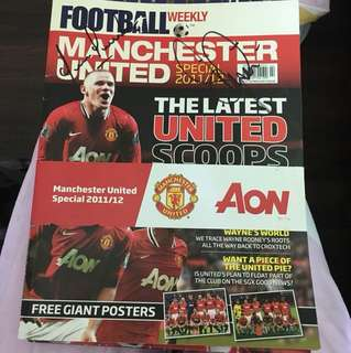Manchester United Football Magazine & Poster (Personal Signature!)
