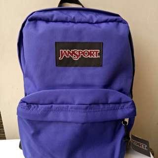 Tas Backpack -Jansport Warna Ungu- Baru & Original