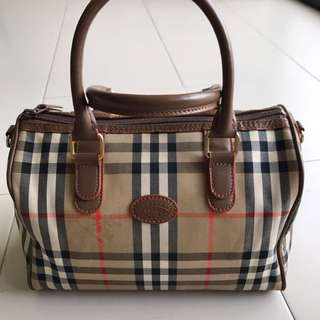 Vintage - Burberry Bowling Small (size speedy 25)