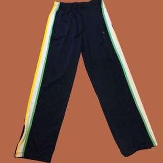 降!!champion 黃白綠條紋 運動褲