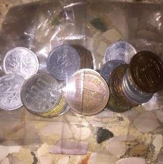 Japanese coins japan yen