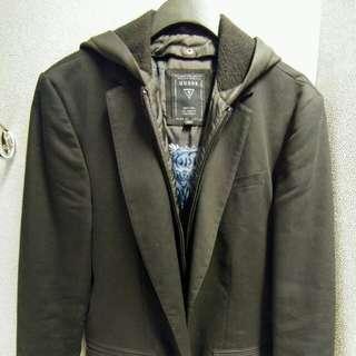 Guess Black Blazer with detachable hood