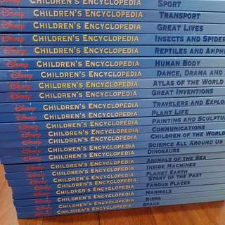 Disney children encyclopedia (Grolier) full set