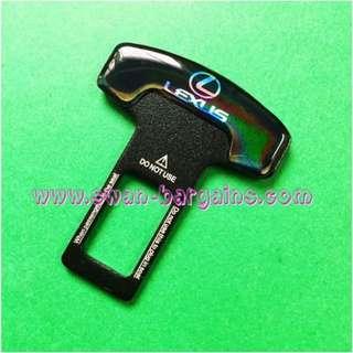 Universal Car Safety Belt Buckle Key Clasp Clip With 3D Reflective Lexus Logo