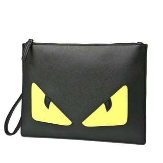 Fendi Monster clutch PU