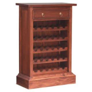 <CNY Teak Sales> Medium Size Wine Rack, Solid Teak