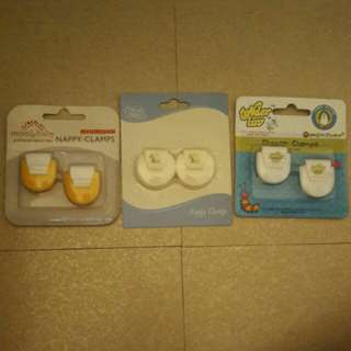 Nappy Clamps (All 3 pairs for Php 70)