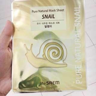 The Saem Snail Gold Sheet Mask