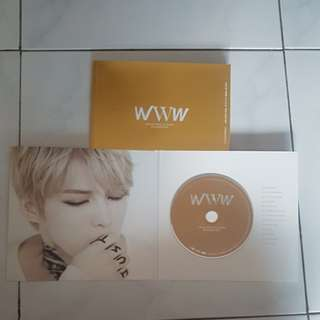Kim Jaejoong 1st Album WWW with poster