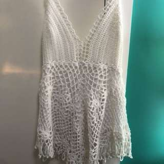 Knitted singlet top