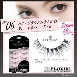 [SALE!!] Sho-Bi Decorative Eyelash PLAYGIRL in No.06