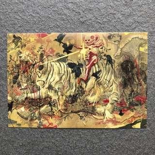 Grunge Art Postcard