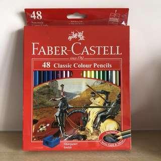 全新Faber-Castell 48枝木顏色筆