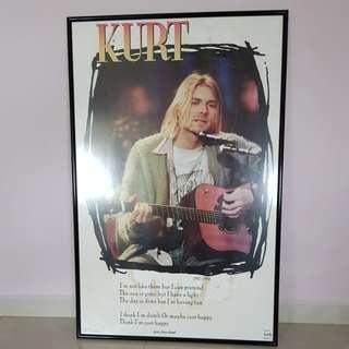Kurt Cobain Nirvana MTV Unplugged Poster