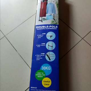 Bnew Double Pole Clothes Hanger