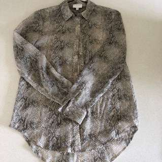 Witchery Too Blouse Snakeskin Print 6-8