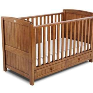 Silver Cross Devonshire Crib / Ranjang Bayi / Baby Bed from Mothercare convertible to Toddler Bed