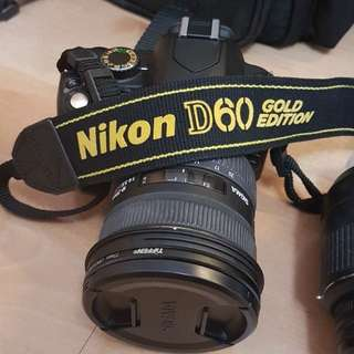 Nikon D60 Gold Edition Full Set