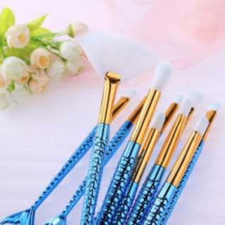 10pieces Fish Tail Makeup Brush set