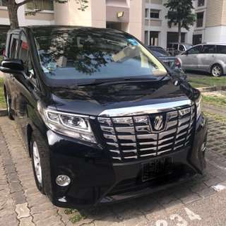 Alphard 8 seaters for uber/grab limousine