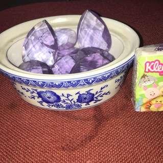 小水仙盆加紫晶