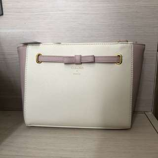 全新Colors手袋 粉紅+白色
