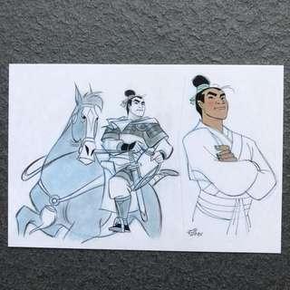 Disney Postcard Mulan
