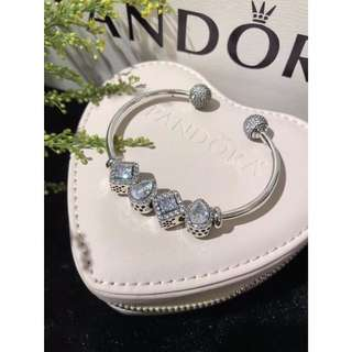 Original Pandora Bangle with charm