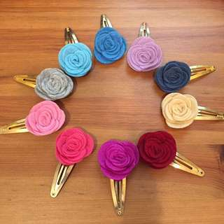 Handmade Flower hair clips for girl *BRAND NEW*
