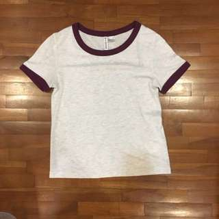 H&M maroon basic top