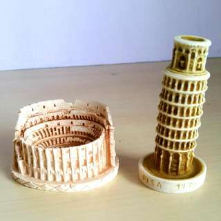 Colosseum, Leaning Tower Of Pisa