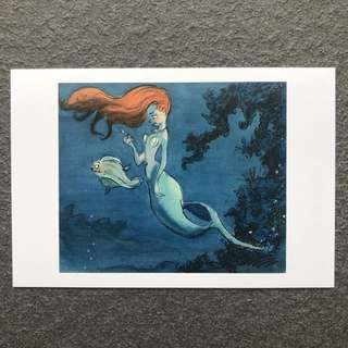 Disney Postcard Little Mermaid