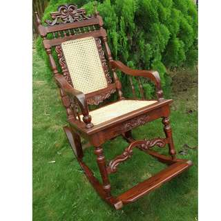 Antique Anglo Indian Rosewood Rocking Chair