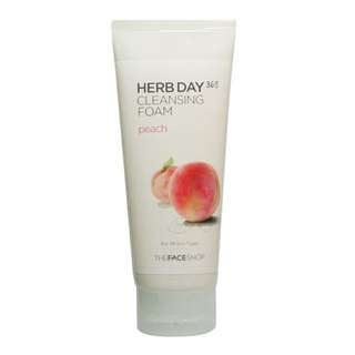 The Face Shop Herb Day 365 Cleansing Foam [Peach]